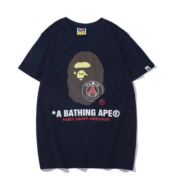 Design Ape Men '; S T -Shirt Ma1 und Shark Head Tide Marke Aviator Suit Pocket Quick-Trocknen Lässige Shorts-Sleeved Men Und Women Lover