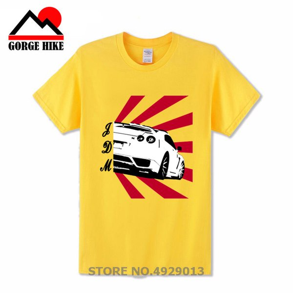 GTR Racing Fashion Man JDM Drift Car M I J T Shirt 2018 Men's Stylish Unique Tee TShirt Nice Camiseta Short Sleeve Sunset Design