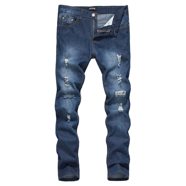 Pop2019 Real Time And Pattern European Trend Holes Jeans Foreign Trade Expert For Long Pants