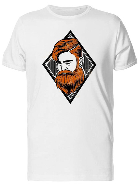 Red Hair Bearded Man Men's Tee -Image by Fashion