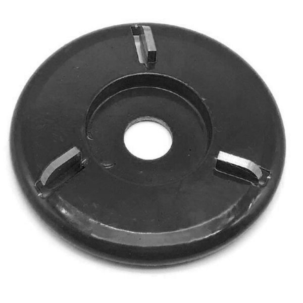 best selling 90mm Diameter 22mm Bore Rotary Planer Black Curved Blade Power Wood Carving Disc