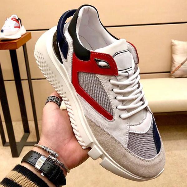 Moda Klasik Veloce Orta Beyaz Trio Erkek Ayakkabı Herren Sportschuhe Lüks Dantel-up Rahat Spor Erkek Ayakkabı Yumuşak Footwears Hızlı Teslimat