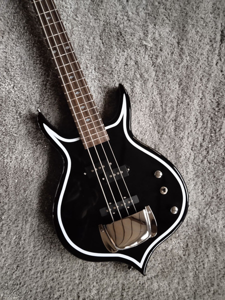 best selling 4 strings Gene Simmons bass black electric bass guitar factory outlet
