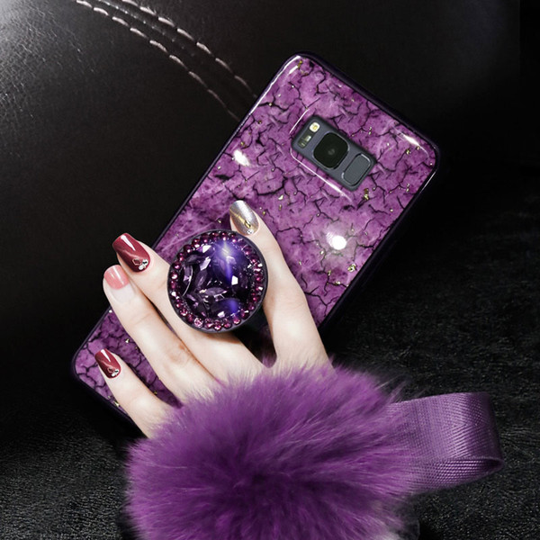2019 New Arrival Samsung S10 Phone Case Silicone Protection Personality Models Fashion Plush All-inclusive Anti-fall New Marble