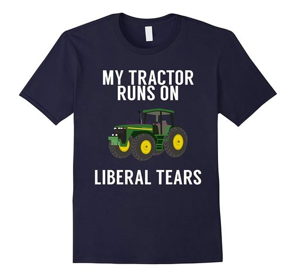 Marka erkekler gömlek Benim Traktör Çiftçiler için Liberal Gözyaşları Pro Trump Gömlek Çalışır