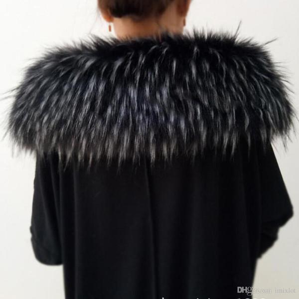 Col en fourrure de renard col à capuchon véritable fourrure veste col de fourrure marque écharpe 70 cm longueur solide adulte véritable haut de gamme