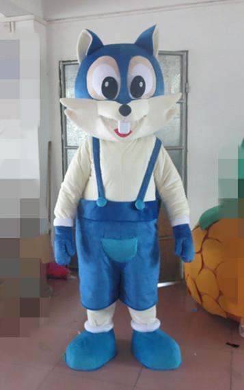 Deluxe Blue Fox Костюм Талисмана, Костюм Талисмана Кошки С Шлемом Вентилятора Реальные Фотографии! Бесплатная Доставка!