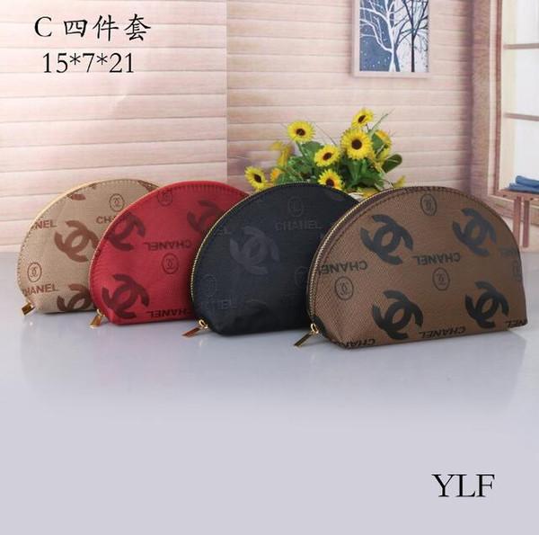 Fiocco di neve 4pc marchio di moda custodia cosmetica borsa da trucco per trucco di lusso borsa da toilette per cosmetici borsa da clutch borsa tote boutique regalo all'ingrosso
