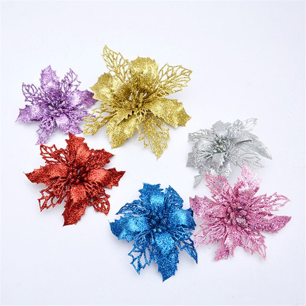 1Pcs Artificial Flowers Garland Christmas Tree Hanging Ornaments for New Year Xmas Decor Home Wedding Party Decoration 62591