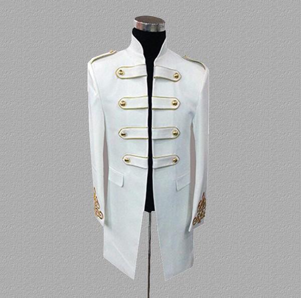 Palace blazer hombre trajes diseños chaqueta para hombre trajes de la etapa para cantantes ropa estilo estrella del baile vestido punk rock negro blanco