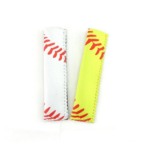 Fashion Sports Pop Bag Rectangle Neoprene Popsicle Mould Sleeves Holder Lily Baseball Rugby Ice Cream Cover For Home LX6406