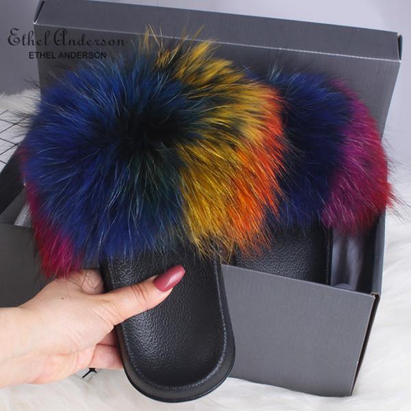 Colorful Raccoon Fur
