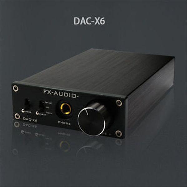 Freeshipping FX-Audio Feixiang DAC-X6 Fever HiFi AMP USB Fiber Coaxial Digital Audio Decoder DAC 24BIT/192 amplifier With 12V Power Supply