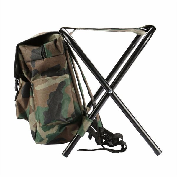 Relefree Fishing Climbing Chair Backpack Camouflage Oxford Cloth Large Capacity Fishing Bag Foldable Stool Tackle Tool #85331