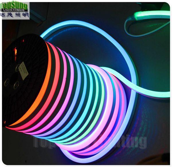 10 M 14x26mm RGB Kovalayan Neon Flex SMD5050 LED Esnek Neon Şerit IP67 Festivali Yapı Dükkanı Işareti Aydınlatma Neon Halat