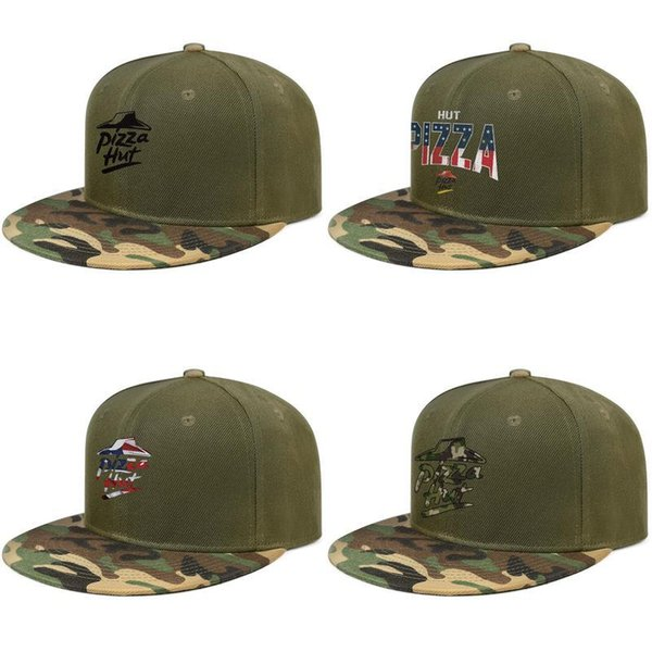 Pizza Hut Logo Black Delivery Online Order For Men And Women Baseball Camouflage Cap Fitted Blank Unique Hats American Flag Distressed Richardson Caps