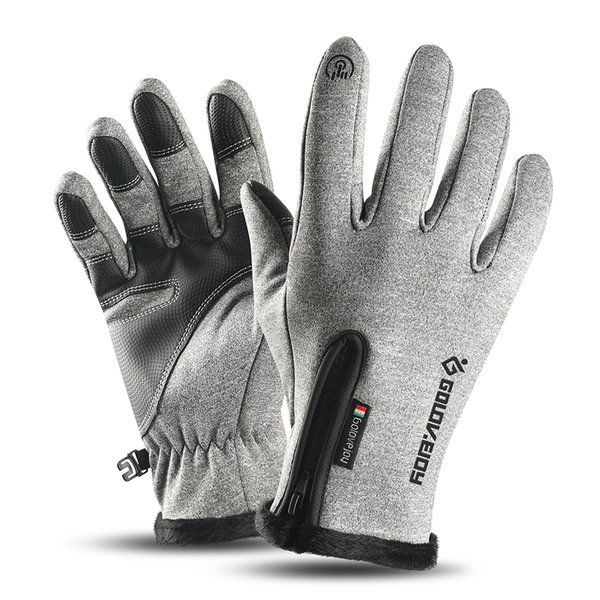Thermal Winter Gloves Touch-screen Cycling Waterproof Windproof Gloves Fleece Warm Climbing Skiing Motorcycling Equipment