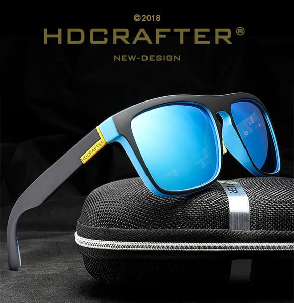 HDCRAFTER Latest design Polarized Sport Sunglasses Anti-Glare Color plating film Sunglasses ultraviolet-proof Outdoor Sun glasses,Gift box