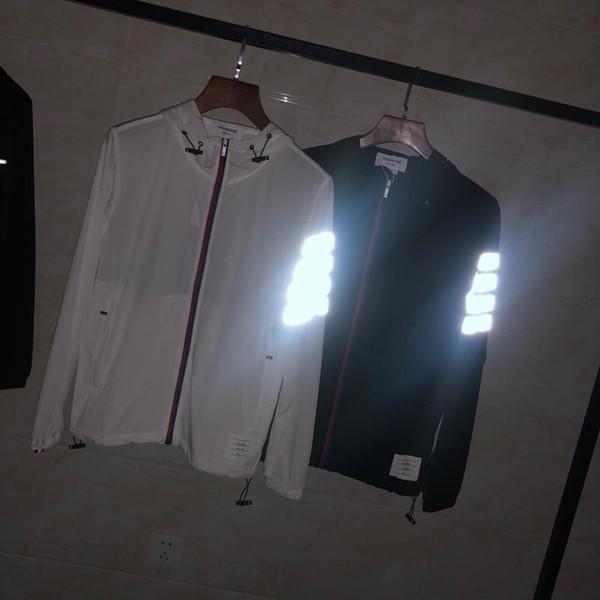REINO UNIDO Estados Unidos jaquetas esportivas casuais mens jaquetas primavera faixa Reflexiva costura velho fino m-xxl viajar ao ar livre com capuz