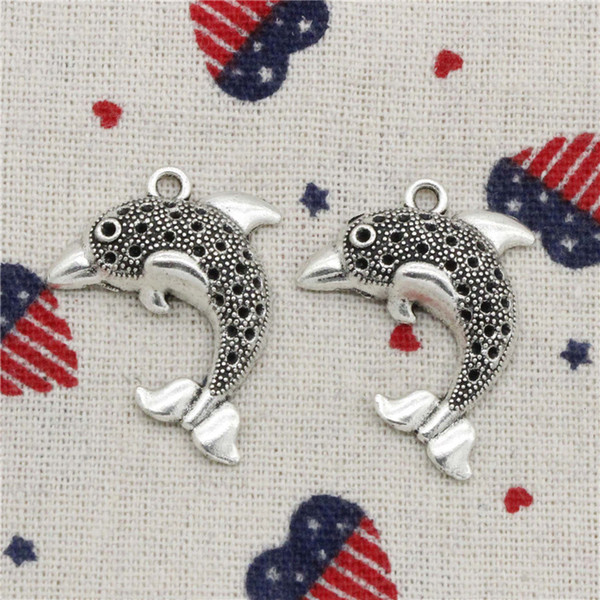 89pcs Charms dolphin ocean sea 33*26mm Pendant, Tibetan Silver Pendant,For DIY Necklace & Bracelets Jewelry Accessories