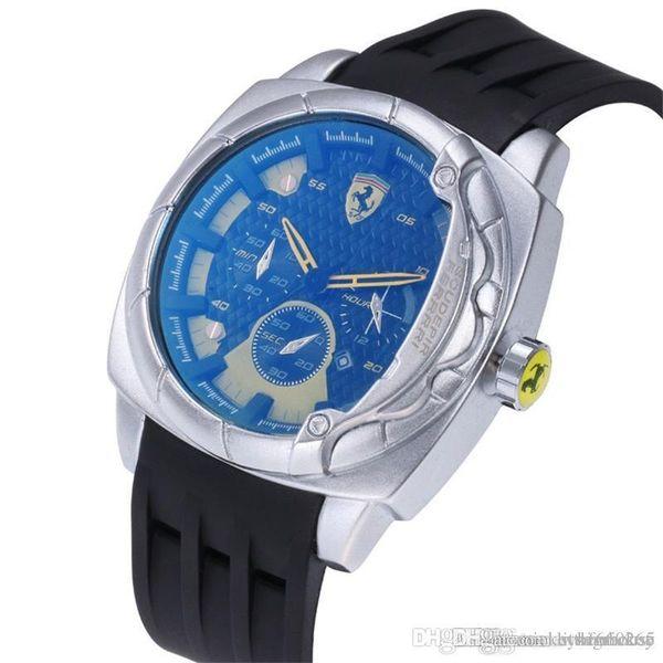 aaa mens watches luxury watch F1 brand wristwatch fashion sport designer quartz rubber strap Reloj de lujo