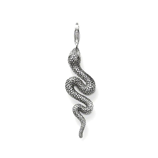 Snake Charms Thomas Style Punk Fashion Silver Good Luck Jewelry Accessories Fit Necklaces&Bracelets