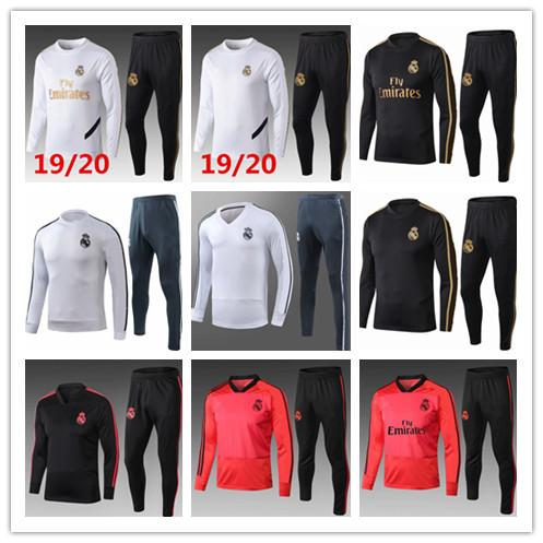 2019/2020 Real Madrid tracksuit adult soccer chandal football tracksuit 2019/20 adult training suit skinny pants Sportswear