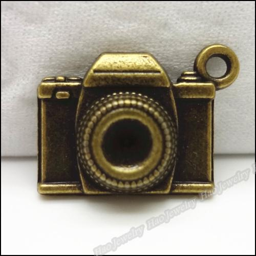 Accessories Jewelry Findings Components 30pcs Vintage Charms Camera Pendant Antique bronze Fit Bracelets Necklace DIY Metal Jewelry Making