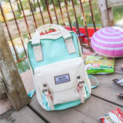 Marka Yeni Kız Sırt Çantası Su Geçirmez Kanvas Çanta Moda Tasarımcısı Çift Omuz Çantaları Genç renkli Açık Okul Sırt Çantası 5 Renk