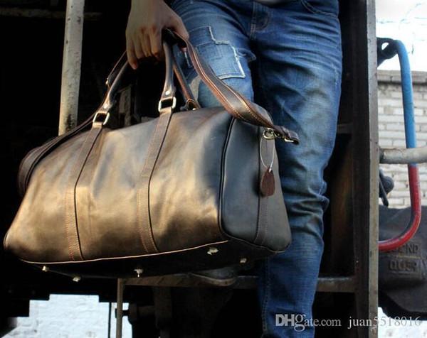 54cm de gran capacidad talegos la Europa clásica de diseño de la belleza de la venta caliente hombres de alta calidad del hombro equipaje de mano keepall # 1122
