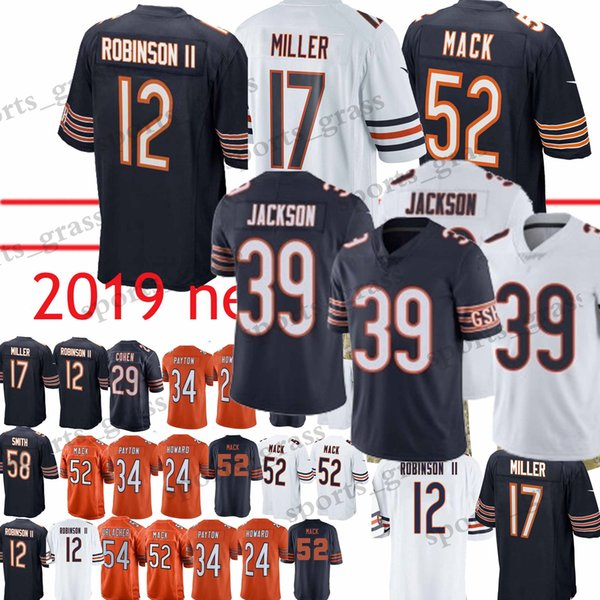 separation shoes e2aa4 14d08 2019 39 EDDIE JACKSON Chicago Bears Jerseys 17 Nthony Miller 29 Tarik Cohen  54 Brian Urlacher 52 Khalil MackJersey 2019 From Sports_grass, $23.5 | ...