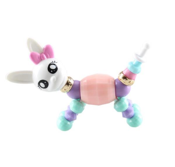DIY Magic Bracelet Collectible Bracelet 12 Designs Puppy Bunny Unicorn Kitty Dog Lion Make a Bracelet Twist into a Pet Toys for Kids