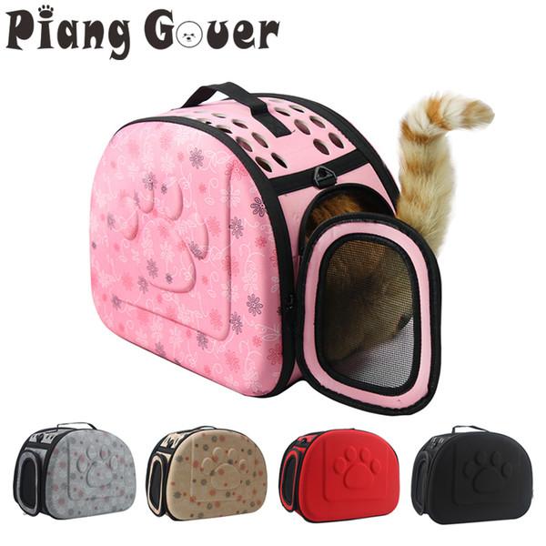 Dog Carrier Bag Portable Cats Handbag Foldable Travel Bag Puppy Carrying Mesh Shoulder Pet Bags S/m/l C19021302
