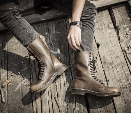 Großhandel Englische Lederstiefel Für Herren Mit Samthohen Stiefeln Wasserdichte Stiefel Für Herren Herrenmode Martin Schuhe Von Crx413236620, $50.77