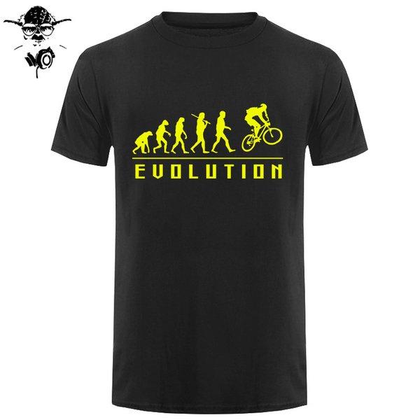 Забавный подарок на день рождения для мужчин Брат Boy Friend папа отца Сон Эволюции Велосипед Футболка Cycle Байкер лето хлопок футболки