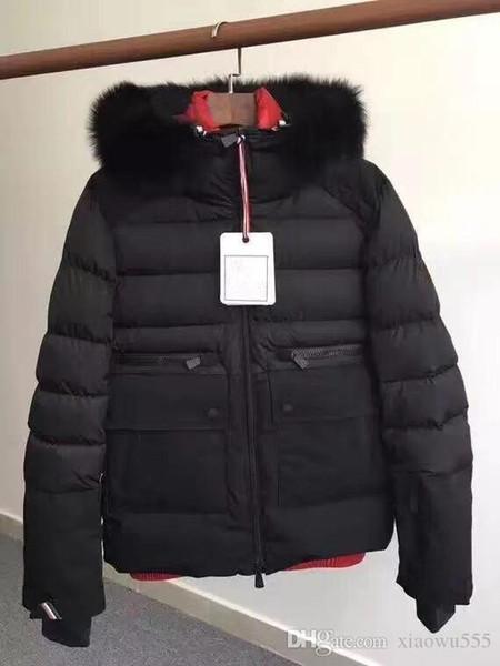 Homens Inverno Branco ganso Down Jacket com capuz Grosso Duck Down Parkas 2 cor Tamanho: M-3XL