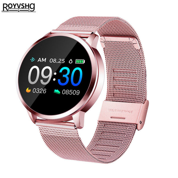 Q8 Смарт Часы OLED Цвет экрана SmartWatch женщин Мода Фитнес Tracker пульсометр умный браслет леди подарок девушка