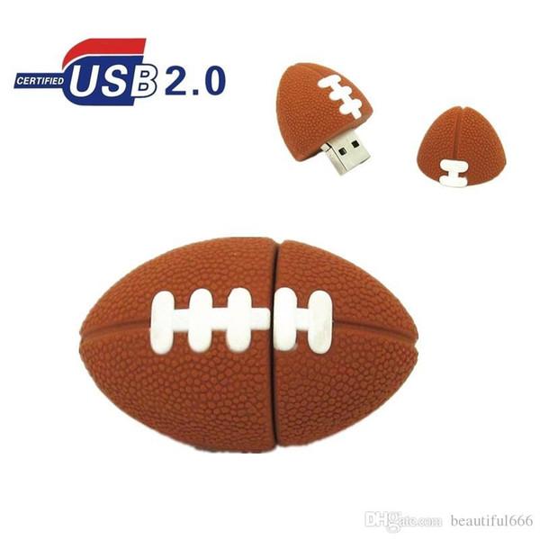 Hot Real Capacity American Football Pen drive Sports Rugby U Disk 32GB~128gb USB Flash Drive