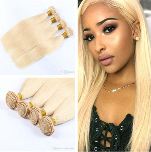 Hot sale!!! Brazilian Straight 613 Cheap Blonde Virgin Human Hair Weaves With 8A Grade 100% Unprocessed