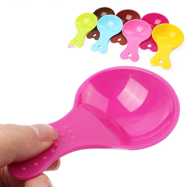 best selling Colour Cute Spoon Dog Food Teddy Cat Candy Pet Shovel Bowl Water Bottle Drinking Bowls yq01123