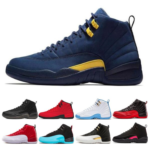 Designer 12 12s Mens Basketball Shoes Winterized WNTR Gym Red College Navy Wings Black CNY Bulls French Blue men Sport Sneakers 7-13