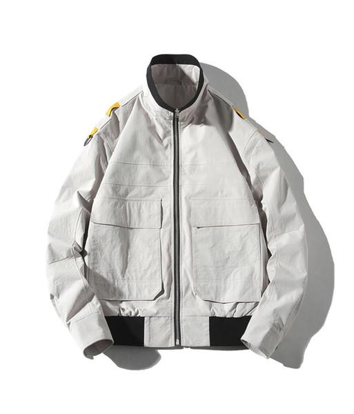 2019 Kış Sonbahar Streetwear Gündelik Giyim Marka Moda Tasarımcısı Uzun Kollu Nakış Baskı Ceket Üst Lüks Ceket. B100759Y.