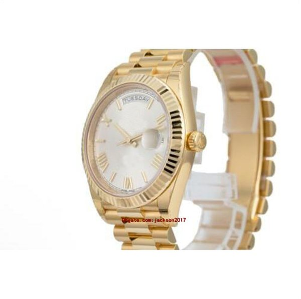 Original box certificate 10 style mens watches 02 228238 228239 228235 Mechanical 40mm Yellow Gold 18K White Gold PRESIDENT Roman Dial