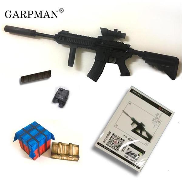 1:1 80cm M416 Assault Rifle 3D Paper Model Non - Firing Papercraft Toy T190919