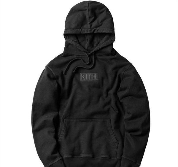 Kith uomini donne hoodies allentati casuale streetwear Kanye paura ovest di dio Harajuku Box Logo cima hip hop felpe Hoody casuale