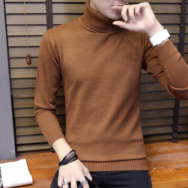 Mrmt gerebloggt 2018 nagelneue Männer Pullover Jugend hohe Kragen-Pullover für Männer starken langen Ärmel Schlank
