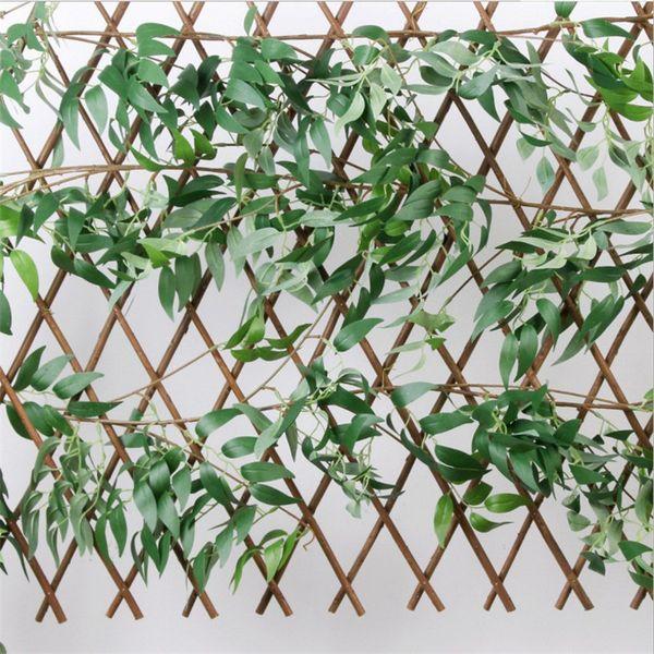 1.7 m de comprimento simulado salgueiro Planta Artificial Decorativo Flores Deixa Arranjar rattan para o Casamento Do Hotel Sala de estar do Festival Fontes Do Partido