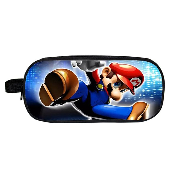 Cute Super Mario Bros Sonic Pencil Case Children Boys Girls Students Bags Fashion New Kids Gifts Stationery Bag Pen Bag