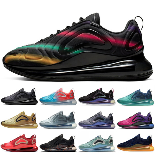 top popular Sneaker Running Shoes For Men Women University Red Blue Fury Betrue Sunrise Sunset Northern Lights Carbon Grey Gold Sport Shoe Size 36-45 2019