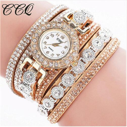 2019 Watch Women Bracelet Ladies Watch With Rhinestones Clock Womens Vintage Fashion Dress Wristwatch Relogio Feminino Gift